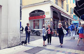 Vintage streets of Old town in Nice, France — Stock Photo