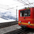 Trains of cog railway to Jungfrau, Switzerland — Stock Photo #38133557