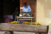 Artisans make craft in Gruyeres, Switzerland — Stock Photo