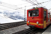 Trains of cog railway to Jungfrau, Switzerland — Stock Photo