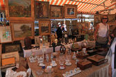 Antique market in Nice, France — Stock Photo