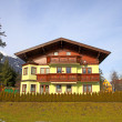 Tradition mountain wooden chalet in Alps(Austria) — Stock Photo