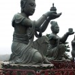 Buddhist Statues on Lantau island (Hong Kong). — Stock Photo