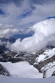 View of Snow Covered Jungfrau in Swiss Alps — Stock fotografie