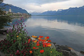 Lake Geneva in Montreux, Switzerland. — Stock Photo