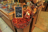 Sun dried tomatoes at market in Provence, France — Stock Photo