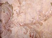 Vintage beige shabby wallpaper with vignette victorian pattern — Stock Photo