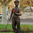 Charlie Chaplin,Vevey, Switzerland — Stock Photo