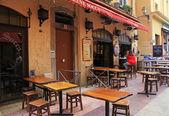 открытый французский традиционных кафе, ницца, франция. — Стоковое фото