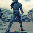 Freddie Mercury statue in Montreux, Switzerland — Stock Photo