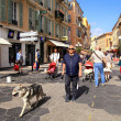 People in Old Town of Nice, France — Stock fotografie #41573889