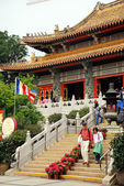 Po Lin Monastery, Lantau, Hongkong — Stock Photo