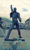 Freddie Mercury statue  in Montreux, Switzerland — Stock Photo