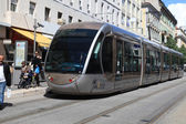 Modern tram in Nice, France — Stock Photo
