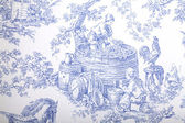 Blue and white french baroque pattern wallpaper — Stock Photo