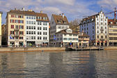 View of Limmat river and Zurich, Switzerland — Stock Photo
