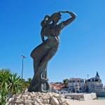 Mermaid statue Cascais, Portugal. — Stock Photo #48340377