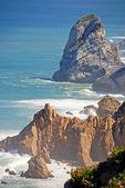 Cabo da Roca (Cape Roca) cliffs and Atlantic ocean — Stock Photo