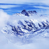 Alps mountain with clouds, Switzerland. — Stock Photo