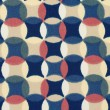 Geometric retro pattern textile with circles in 70s style. — Stock Photo #50167789