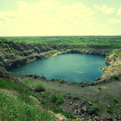 View of an open pit mining — Stock Photo