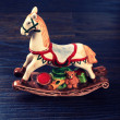 Vintage ceramic toy horse — Stock Photo #51398181