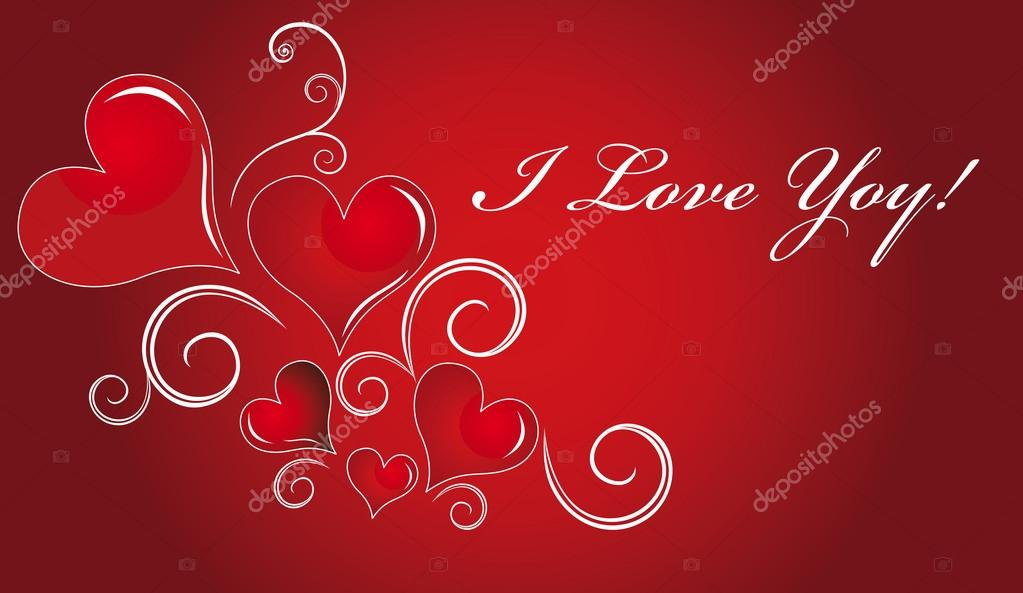 Postcard greetings from St. Valentine, or just a love. — Stock Vector #19637415