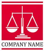 Waga sprawiedliwości - logo — Wektor stockowy