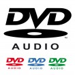 Logos- dvd audio - Stock Vector