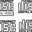 Vector de stock : Compact disc logo vector