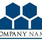 logo aziendale - vettoriale a nido d'ape — Vettoriale Stock