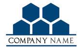 Logo de l'entreprise - vecteur de nid d'abeilles — Vecteur