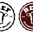 Stock Vector: Beef labels