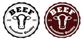 Beef labels — Stock Vector