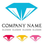 Diamonds logo vector — Vector de stock