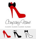 Shoes logo vector — Stock Vector
