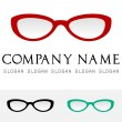 Eyeglasses logo vector — Stock Vector