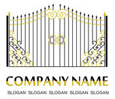 Gate logo — Stock Vector