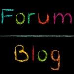 Illustration of words forum — Stock Vector