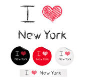 Illustration i love New York — Stock Vector