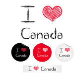 Illustration i love Canada — Stock Vector