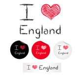 Illustration i love england — Stock Vector