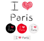 Illustration i love Paris — Stock Vector
