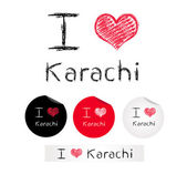 Illustration i love Karachi — Stock Vector