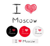 Illustration i love Moscow — Stock Vector
