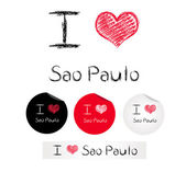 Illustration i love Sao Paulo — Stock Vector