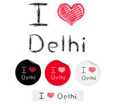 Illustration i love Delhi — Stock Vector