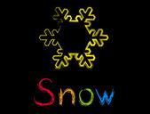 Snow — Stock Vector