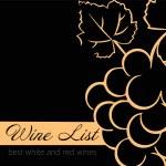 şarap listesi etiket kümesi — Stok Vektör
