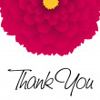 Thank you - colored flower — Stock Vector